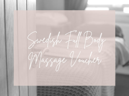 Swedish Full Body Massage Voucher Image
